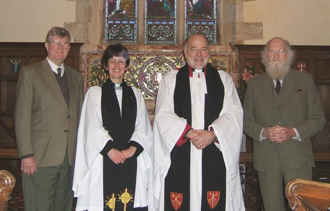 The Dean with the Rector and Churchwardens
