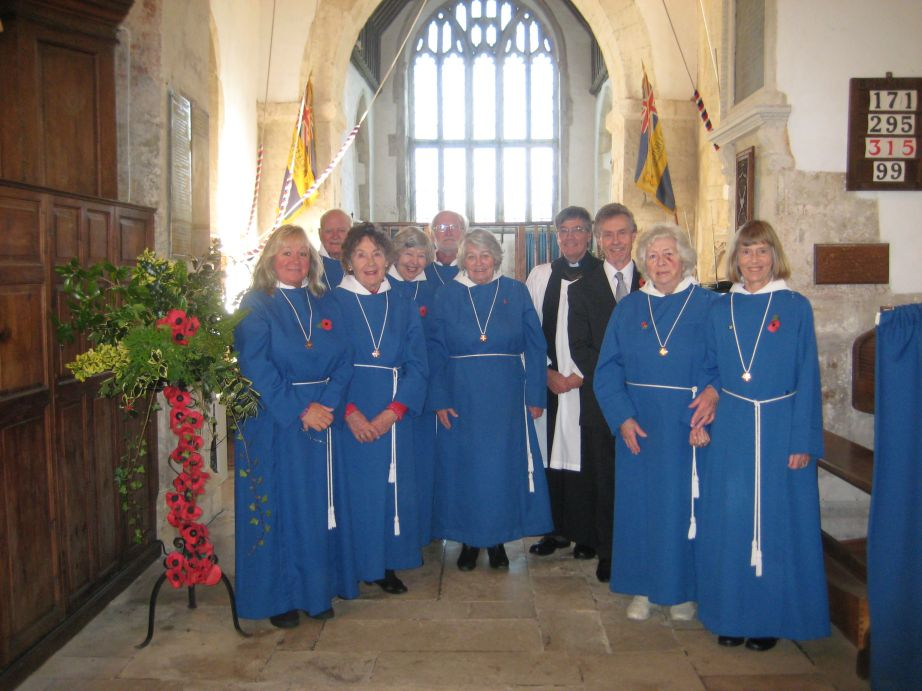 The choir on Remembrance Sunday 2014